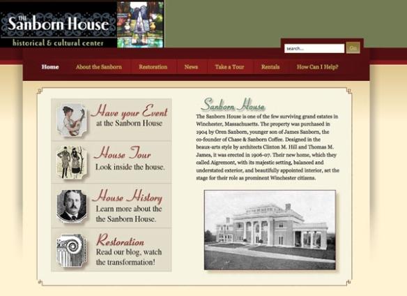 Sanbornhouse.org website